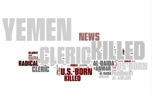 Words relating to the C.I.A. killing of a U.S. born cleric in Yemen